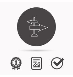 Direction arrows icon Destination way sign vector image vector image