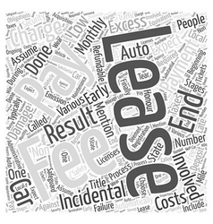 Fees involved in leasing word cloud concept vector