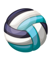 silhouette color with volleyball ball vector image