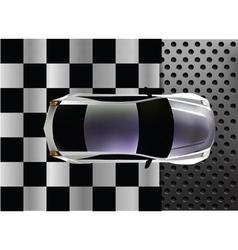 sport car at finish vector image vector image