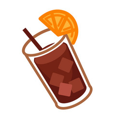 coke cocktail with citrus vector image vector image