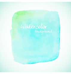 Green watercolor element for summer designs vector image