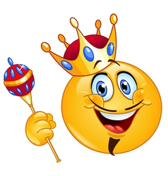 king emoticon vector image vector image