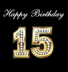 15 birthday vector image