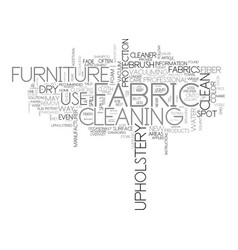 a guide to good furniture care text word cloud vector image
