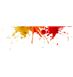 Abstract banner multicolored splash watercolor vector