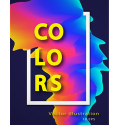 Abstract colorful background with liquid vector