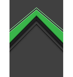 Abstract green arrow direction overlap on grey vector