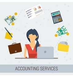 Accounting services flat vector