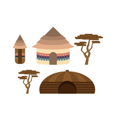 african national buildings vector image