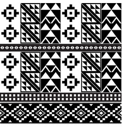 African tribal kente monochrome cloth style vector