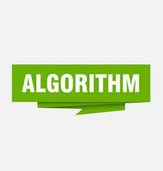 Algorithm vector