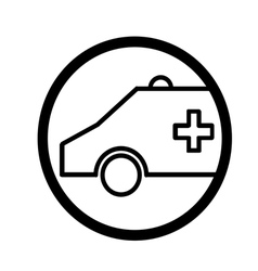 Ambulance symbol vector