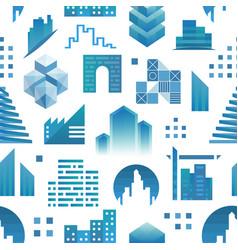 architecture building skyscraper construction vector image