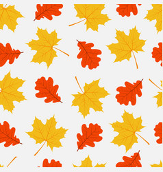 autumn seamless pattern pattern with leaves vector image