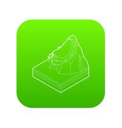 Avalanche icon green vector