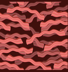 Bacon roasted seamless pattern thin piece of meat vector