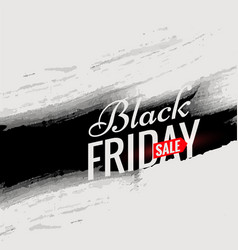 black friday sale poster template with black ink vector image