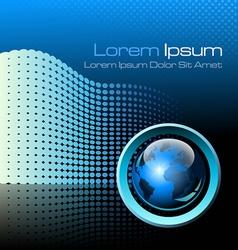 Blue futuristic background vector