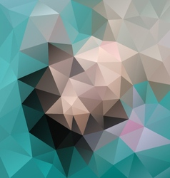 blue green beige gray colored polygon triangular vector image