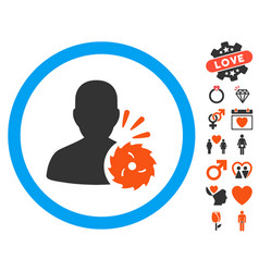Body execution icon with dating bonus vector