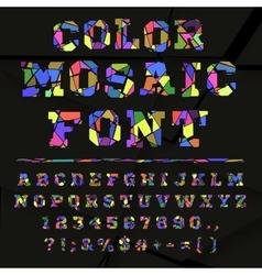 Broken colored alphabet on a dark background vector image