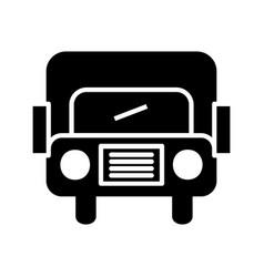 bus glyph black icon vector image