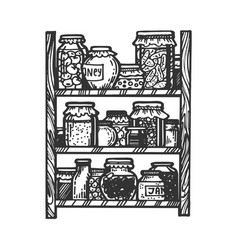canned food engraving vector image