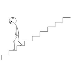 cartoon of sad and depressed man or businessman vector image