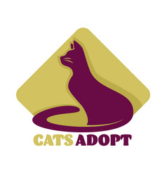cats adoption isolated icon animal shelter care vector image