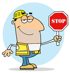 Caucasian Traffic Director Man vector image