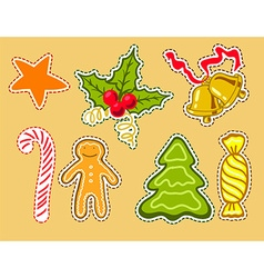 Christmas labels stikers vector