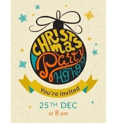 Christmas party ho ho ho invitation template vector