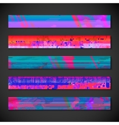 colorful abstract fashion leaderboard backdrop set vector image