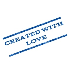 Created with love watermark stamp vector
