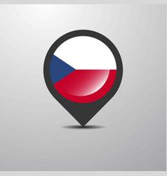 Czech republic map pin vector