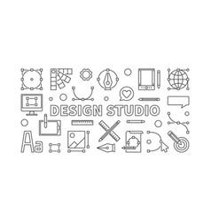 design studio line or banner vector image