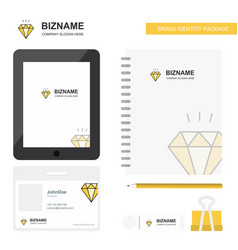 diamond business logo tab app diary pvc employee vector image