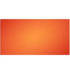 dotted halftone red orange background or pop art vector image