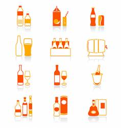 Drink bottles icon juicy series vector