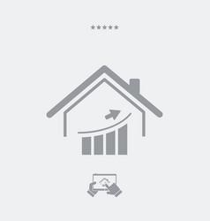 Earnings in housing market - web icon vector