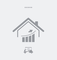 Earnings in the housing market - web icon vector