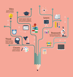 education infographic in flat style vector image