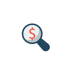 Financial research icon flat element vector