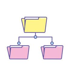 folder file data center server vector image