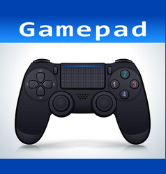 Gamepad on white background vector