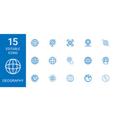 Geography icons vector