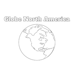 Globe North America view vector