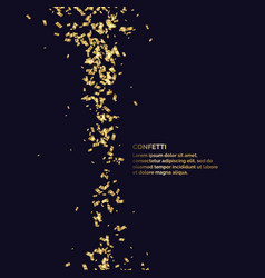 gold confetti is falling abstract background vector image