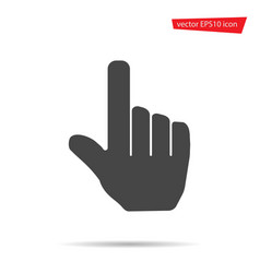 gray hand touching icon isolated on background mo vector image